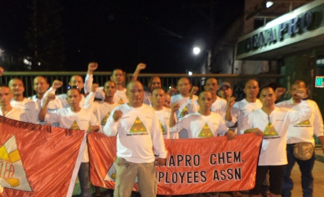 Chemical workers appeal for support to union leaders