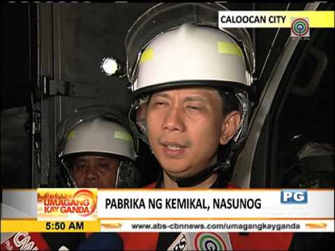 Fire hits chemical factory in Caloocan